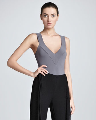Sleeveless Stretch Bodysuit, Geode
