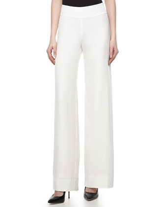 Wide-Leg Trousers, Gypsum