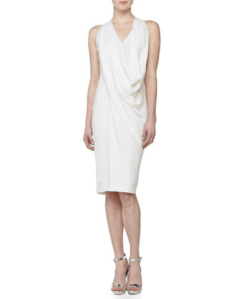 Sleeveless Draped Cowl Dress