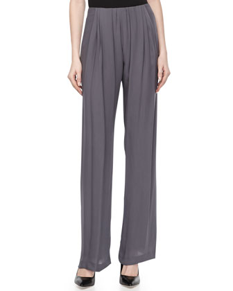 Georgette Pleated Trousers, Geode