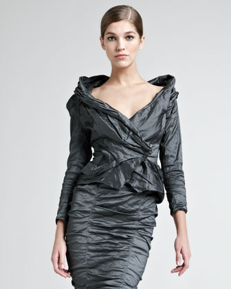Crushed Stretch-Metallic Jacket