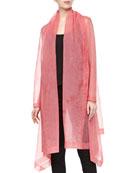 Organza Clutch Coat, Rose Quartz