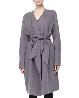 Double-Face Cashmere Coat, Geode