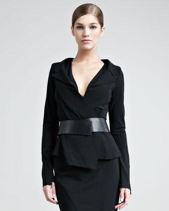 Structured Matte Jersey Jacket