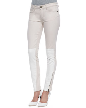 Cara Colorblock Ankle Zip Jeans, Serenity