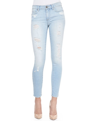 Verdugo Cropped Skinny Jeans, Naomi Deconstructed