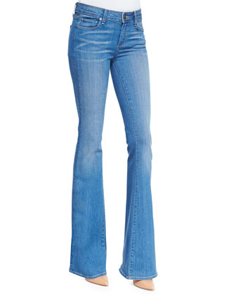 Fiona Harrison Whiskered Flared Denim Jeans