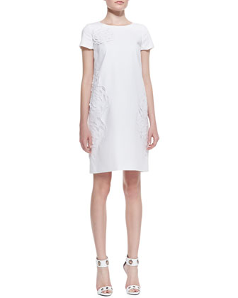 Jaedyn Stretch-Cotton Dress with Cutouts