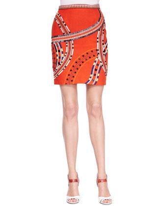 Chuck Embroidered Embellished-Crepe Skirt