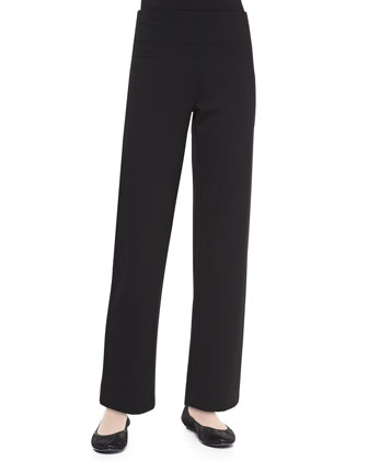 Zip-Front 3/4-Sleeve Topper Lounge Jacket & Jersey Lounge Pants