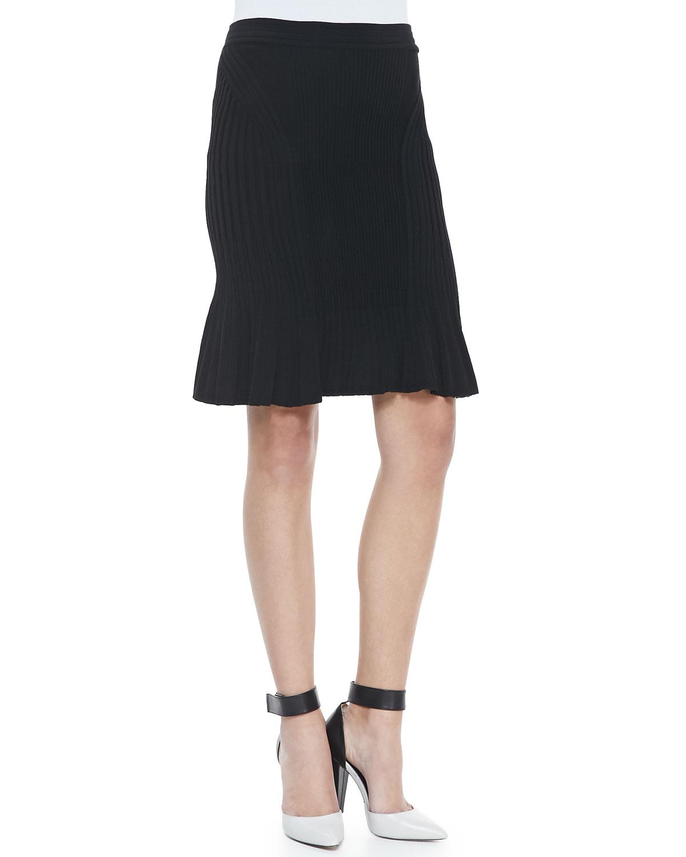 Womens Suspension Long Pleated Skirt   Ohne Titel   Black (MEDIUM)
