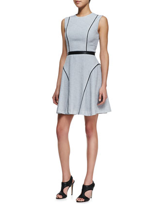 Juliet Pebbled Paneled Dress
