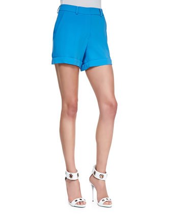 Marie Cuffed Twill Shorts