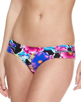Paradiso Ruched-Side Swim Bottom