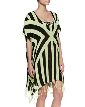 The Factory Printed Kaftan Coverup