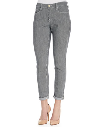 Le Garcon Striped Twill Pants, Metro