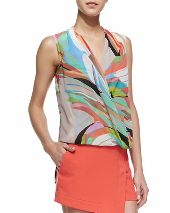 Muriel Printed Surplice Top