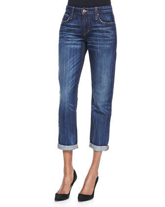 Easy High Water Jeans, Dark Blue