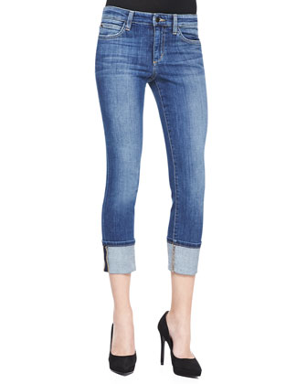 Judi Faded Cuffed Skinny Jeans