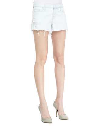 1158 Addicted Soft Light-Wash Cutoff Shorts