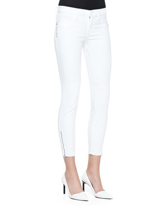 Tali Zipper-Cuff Skinny Jeans