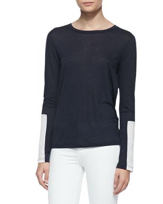 Amirah Drapey Soft-Jersey Tee Shirt