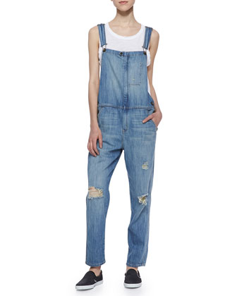 Ranch Hand Distressed Overalls & The Muscle Tee