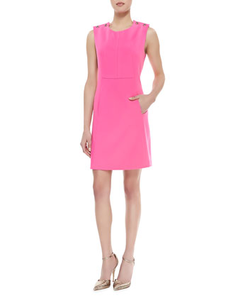 Sleeveless Shift Dress, Bubblegum