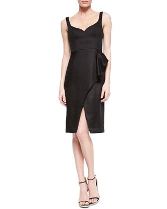 Honour Faux-Wrap Cocktail Dress