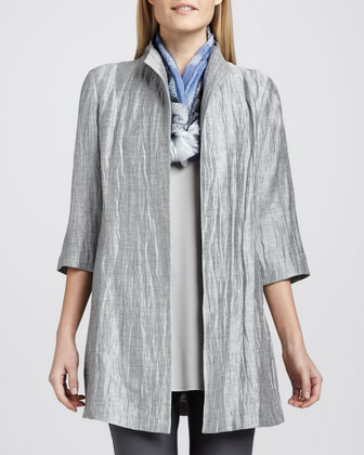 Washable Crinkle Sheen Jacket, Jersey Tank, Silk Shibori Scarf & Washable ...