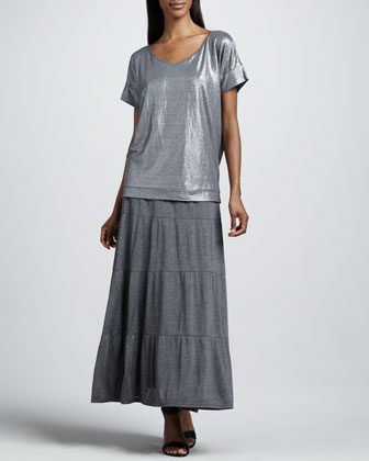 Tiered Maxi Skirt, Petite
