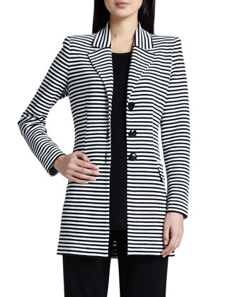 Amelie Long Striped Jacket, Women's