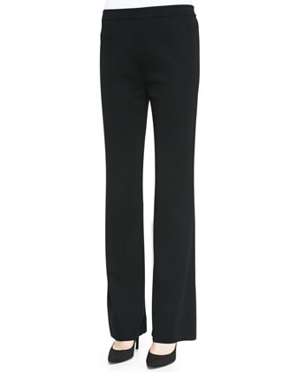 Casey Straight-Leg Pants, Black