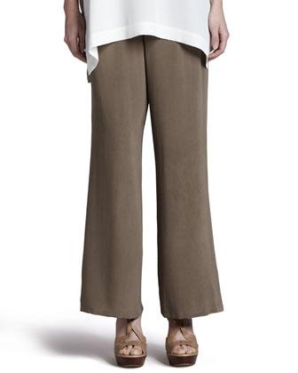 Silk Full-Leg Pants, Petite