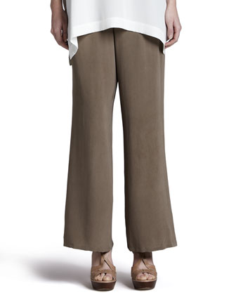 Silk Full-Leg Pants