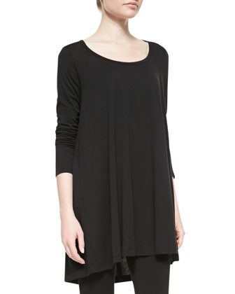 Scoop-Neck Tunic, Black