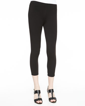 Cropped Leggings, Black