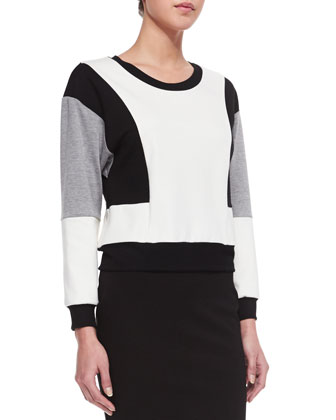 Colorblock Sport Jersey Top