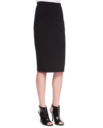 Fitted Knit Column Skirt