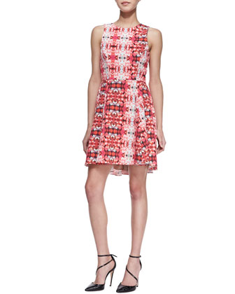 Jackie Kaleidoscope-Print Dress