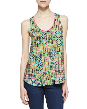 Ashton Geometric-Print Tank Top
