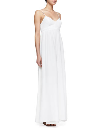 Sleeveless Empire-Waist Maxi, Ivory