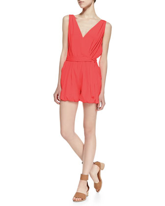 Bubblegum Sleeveless Short Jumpsuit, Pink