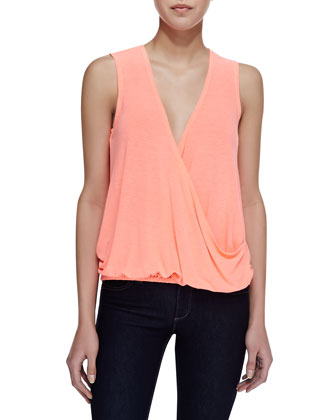 Polly Neon Cross Front Tank, Pink