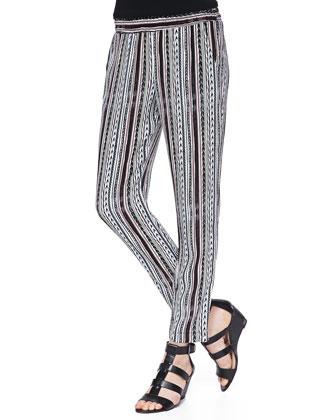 Bondi Sequoia-Print Striped Pants