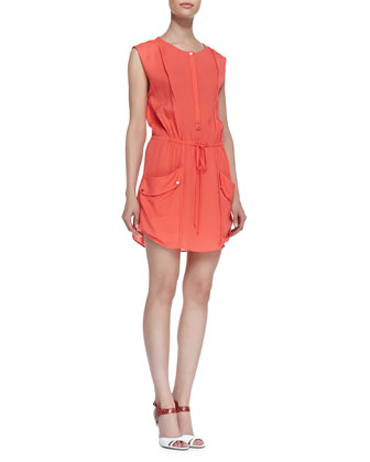 Simona Silk Sleeveless Dress