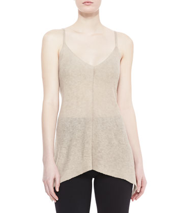 Trapeze Ribbed Tunic, Buff