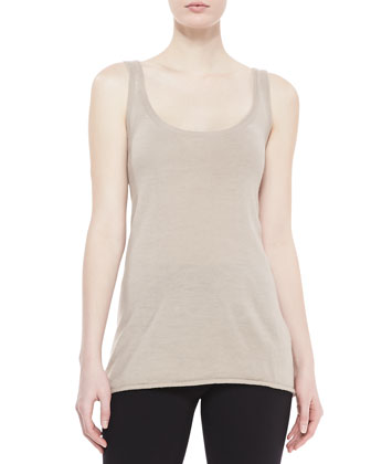 Scoop-Neck Easy Tank, Buff