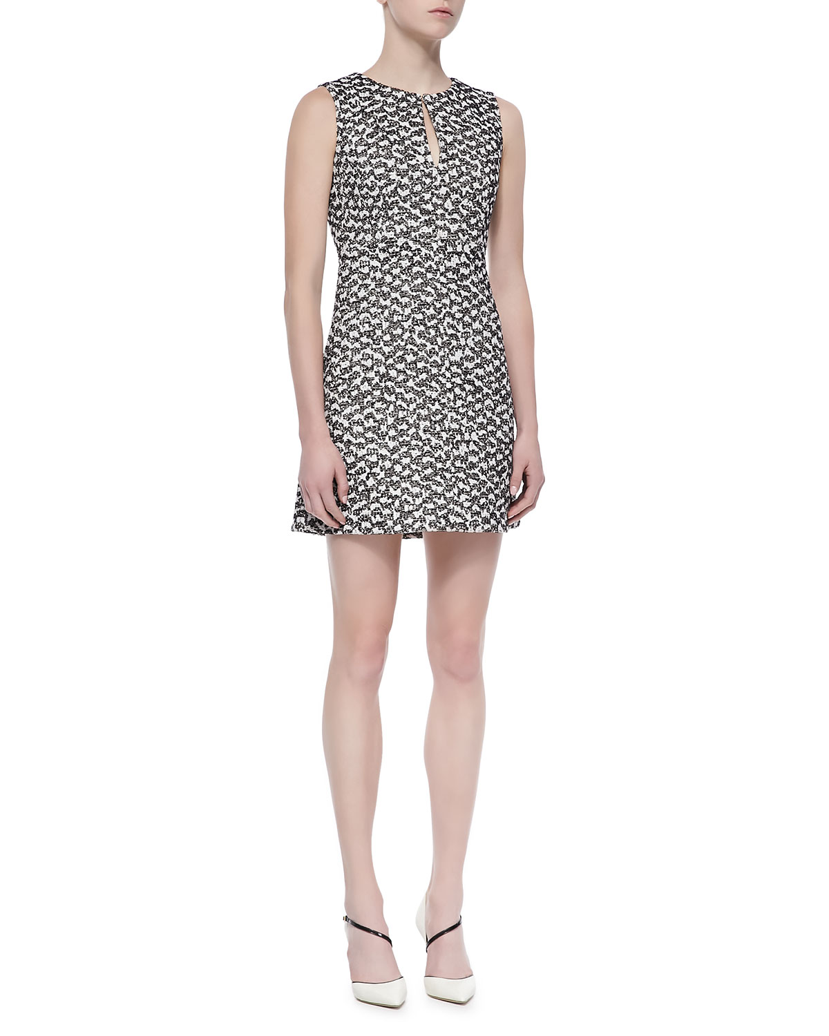 Diane von Furstenberg 'Yvette' Cotton Blend A-Line Dress