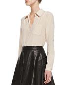Lorelei Long-Sleeve Silk Blouse